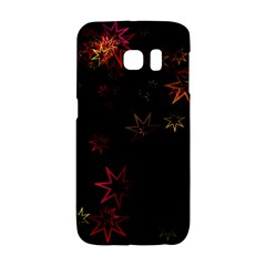 Christmas Background Motif Star Galaxy S6 Edge