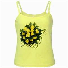 Bouquet Flowers Roses Decoration Yellow Spaghetti Tank
