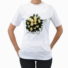 Bouquet Flowers Roses Decoration Women s T Shirt (white) (two Sided)