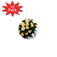 Bouquet Flowers Roses Decoration 1  Mini Magnet (10 Pack)