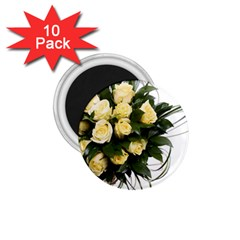 Bouquet Flowers Roses Decoration 1 75  Magnets (10 Pack)