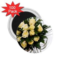 Bouquet Flowers Roses Decoration 2 25  Magnets (100 Pack)
