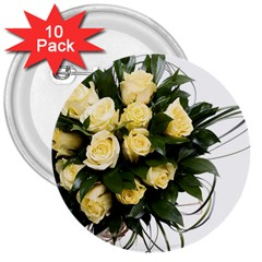 Bouquet Flowers Roses Decoration 3  Buttons (10 Pack)