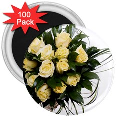 Bouquet Flowers Roses Decoration 3  Magnets (100 pack)