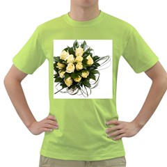 Bouquet Flowers Roses Decoration Green T-Shirt