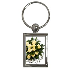 Bouquet Flowers Roses Decoration Key Chains (rectangle)