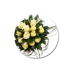 Bouquet Flowers Roses Decoration Magnet 3  (round)