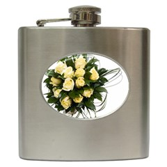 Bouquet Flowers Roses Decoration Hip Flask (6 Oz)