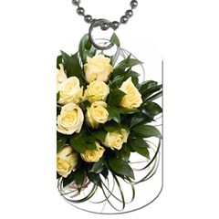 Bouquet Flowers Roses Decoration Dog Tag (two Sides)