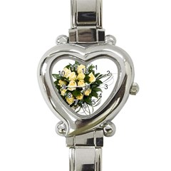 Bouquet Flowers Roses Decoration Heart Italian Charm Watch