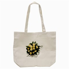 Bouquet Flowers Roses Decoration Tote Bag (cream)