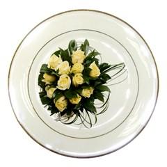 Bouquet Flowers Roses Decoration Porcelain Plates