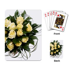 Bouquet Flowers Roses Decoration Playing Card