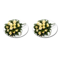 Bouquet Flowers Roses Decoration Cufflinks (oval)