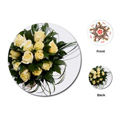 Bouquet Flowers Roses Decoration Playing Cards (round)