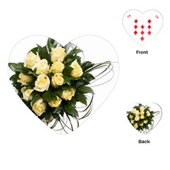 Bouquet Flowers Roses Decoration Playing Cards (heart)