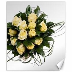 Bouquet Flowers Roses Decoration Canvas 8  X 10
