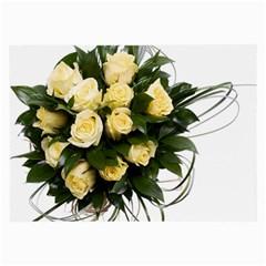Bouquet Flowers Roses Decoration Large Glasses Cloth