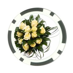 Bouquet Flowers Roses Decoration Poker Chip Card Guards