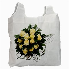 Bouquet Flowers Roses Decoration Recycle Bag (one Side)