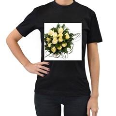 Bouquet Flowers Roses Decoration Women s T Shirt (black)