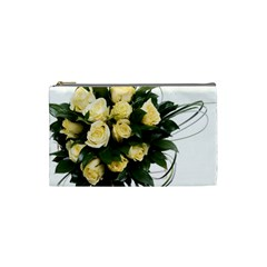 Bouquet Flowers Roses Decoration Cosmetic Bag (small)