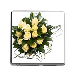Bouquet Flowers Roses Decoration Memory Card Reader (square)