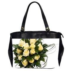 Bouquet Flowers Roses Decoration Office Handbags (2 Sides)