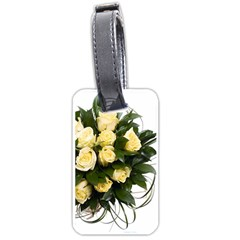 Bouquet Flowers Roses Decoration Luggage Tags (one Side)
