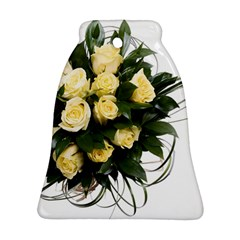 Bouquet Flowers Roses Decoration Bell Ornament (2 Sides)