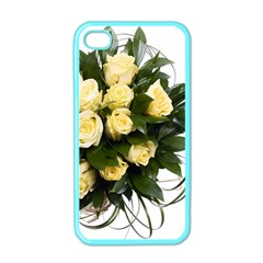 Bouquet Flowers Roses Decoration Apple Iphone 4 Case (color)