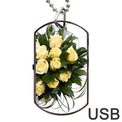 Bouquet Flowers Roses Decoration Dog Tag Usb Flash (one Side)