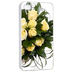 Bouquet Flowers Roses Decoration Apple Iphone 4/4s Seamless Case (white)