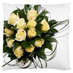 Bouquet Flowers Roses Decoration Large Cushion Case (two Sides)