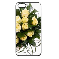 Bouquet Flowers Roses Decoration Apple Iphone 5 Seamless Case (black)