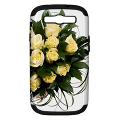 Bouquet Flowers Roses Decoration Samsung Galaxy S Iii Hardshell Case (pc+silicone)