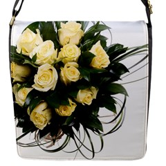 Bouquet Flowers Roses Decoration Flap Messenger Bag (s)