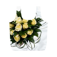 Bouquet Flowers Roses Decoration Full Print Recycle Bags (m)