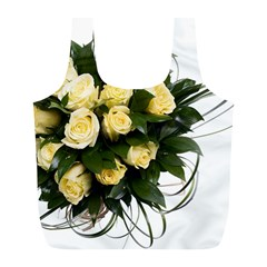Bouquet Flowers Roses Decoration Full Print Recycle Bags (l)