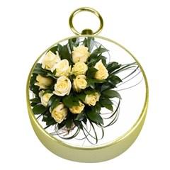 Bouquet Flowers Roses Decoration Gold Compasses