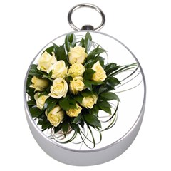 Bouquet Flowers Roses Decoration Silver Compasses