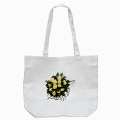 Bouquet Flowers Roses Decoration Tote Bag (white)