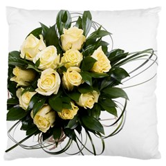 Bouquet Flowers Roses Decoration Large Flano Cushion Case (two Sides)