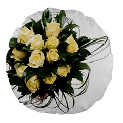 Bouquet Flowers Roses Decoration Large 18  Premium Flano Round Cushions