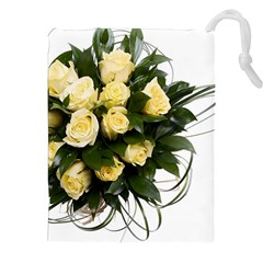 Bouquet Flowers Roses Decoration Drawstring Pouches (xxl)