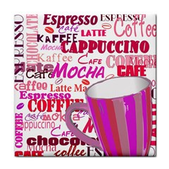 Coffee Cup Lettering Coffee Cup Tile Coasters