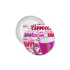 Coffee Cup Lettering Coffee Cup 1 75  Buttons