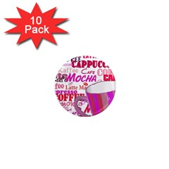 Coffee Cup Lettering Coffee Cup 1  Mini Magnet (10 Pack)