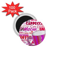 Coffee Cup Lettering Coffee Cup 1 75  Magnets (100 Pack)