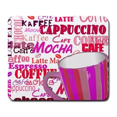 Coffee Cup Lettering Coffee Cup Large Mousepads